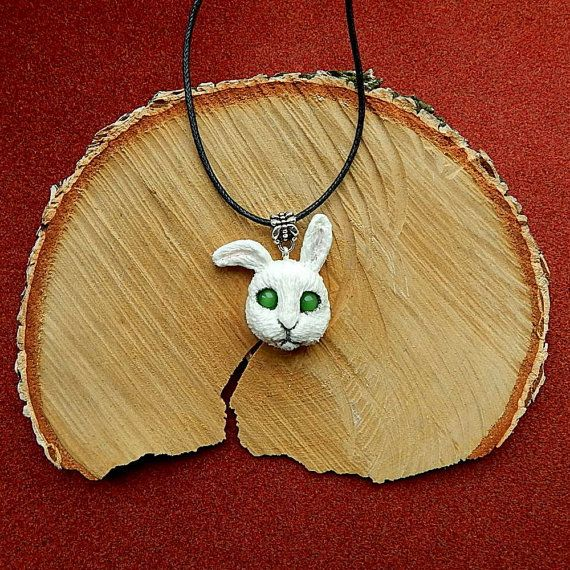 Rabbit head Pendant Rabbit head Bunny Jewelry от ViaLatteaArt