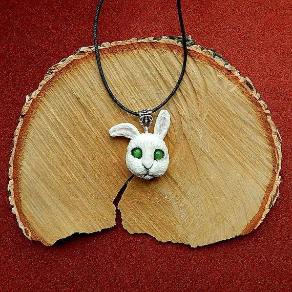 Rabbit head Pendant Rabbit head Bunny Jewelry от ViaLatteaArt