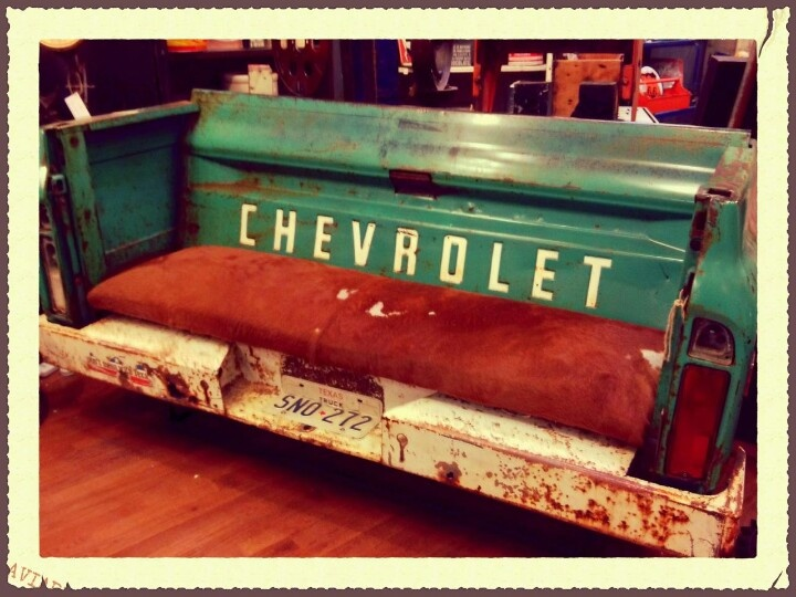 Chevy Truck Bench At Hinge Valley Junction West Des Moines Iowa Furniture Pinterest Chevy