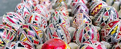 Traditional hand painted Romanian Easter eggs