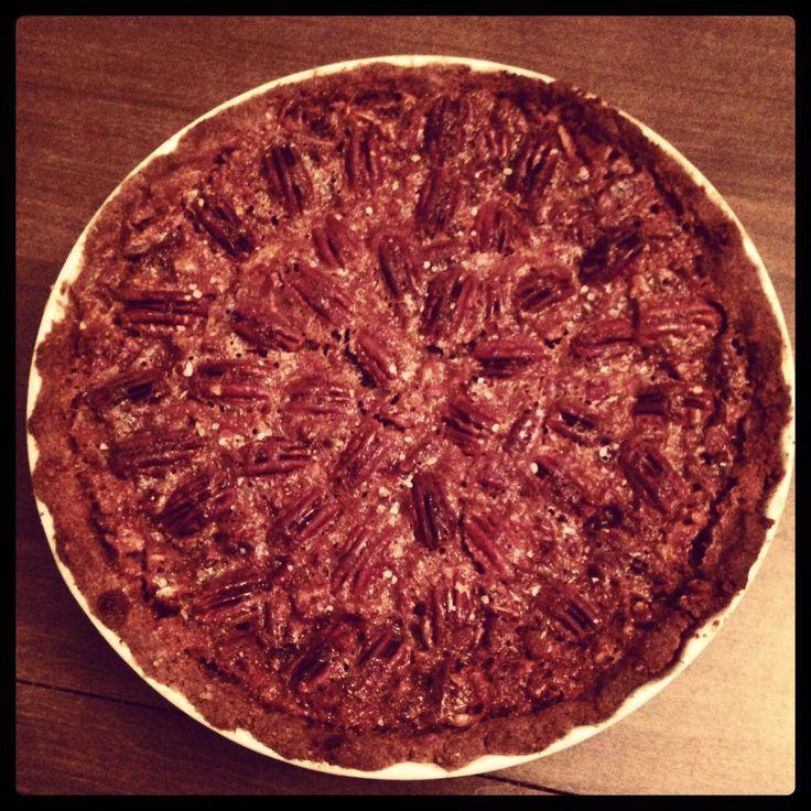 salted caramel pecan pie so good it made me like pecan pie!  #SweetSweetJules