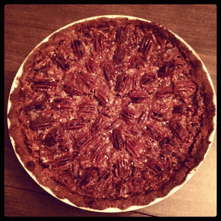 salted caramel pecan pie so good it made me like pecan pie!  #SweetSweetJules