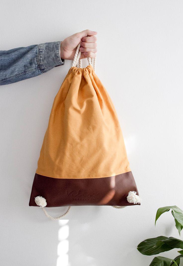Valise mostaza & marrón. #bagpack #barcelona #valisebags #valisebarcelona