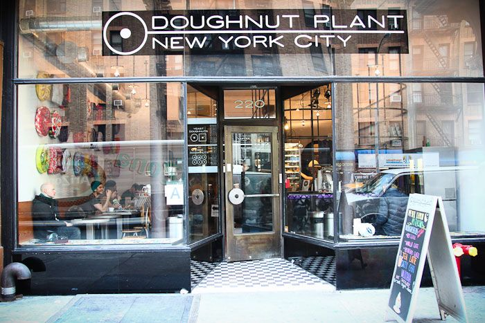Doughnut Plant on the lower east side, NY.  http://doughnutplant.com/ AMAZING!!! Coconut lime, peach, blueberry cake, coconut cream filled and peanut butter jelly. YUM!!