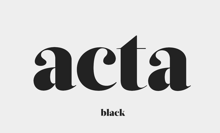 """Acta / #typography Love the """"a"""" and """"c"""" teardrop style"""