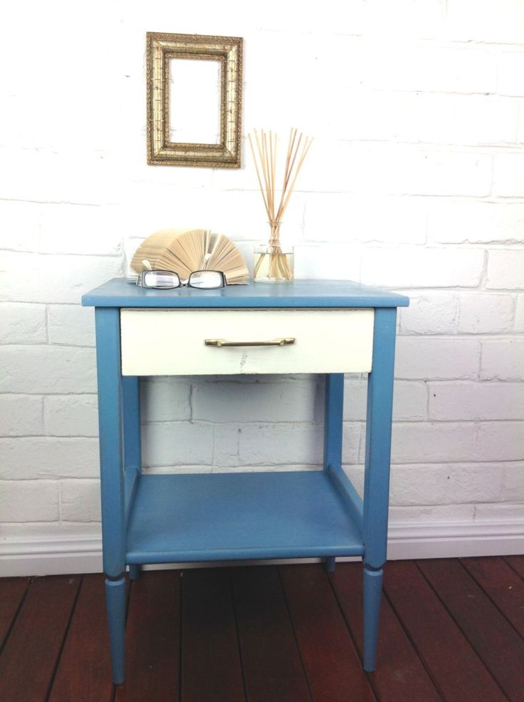 Vintage Retro Sidetable With Draw Restored Newly Painted in NSW | eBay