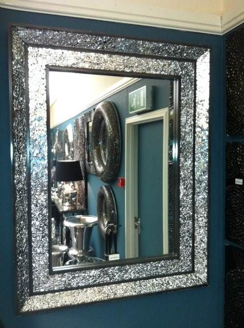 double band crushed Mosaic silver Mirror