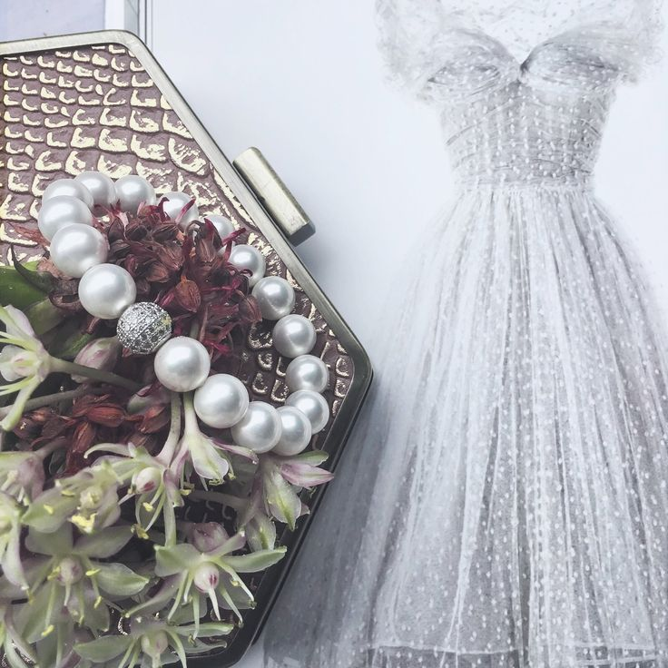 Valentines Day Wedding in pearls and Swarovski. Elegance, romance and charm all in one piece. http://www.victoriawhitedesigns.com.au/