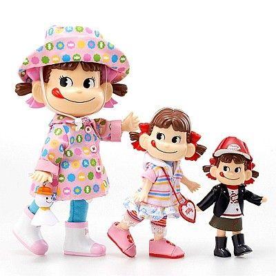 Fujiya Milky Peko dolls
