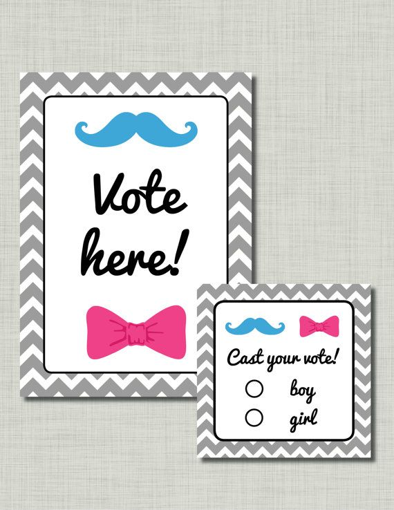 Gender Reveal Voting ballots cards sign station by BusyChickadees, $7.00