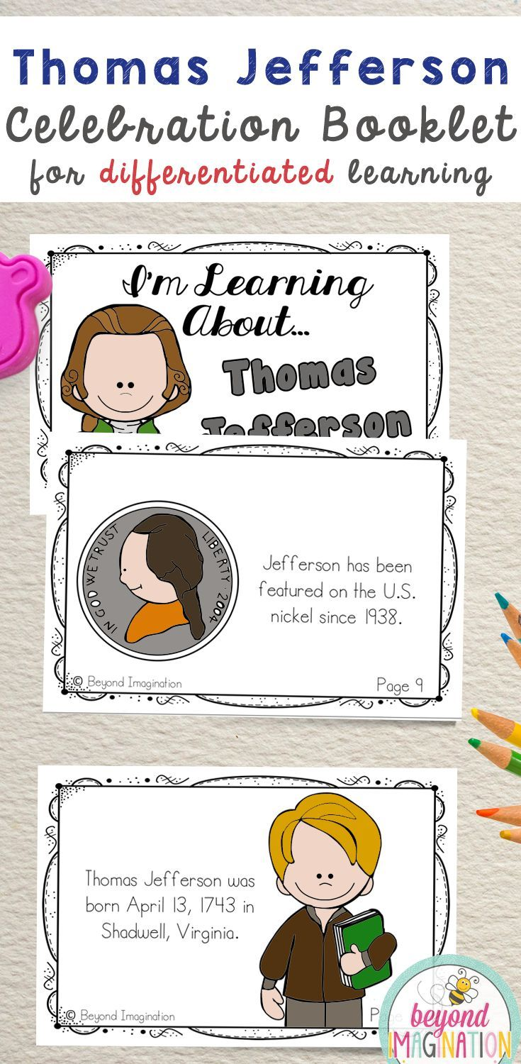 Workbooks thomas jefferson worksheets : Thomas Jefferson Study | 44 Pages for Differentiated Learning + ...