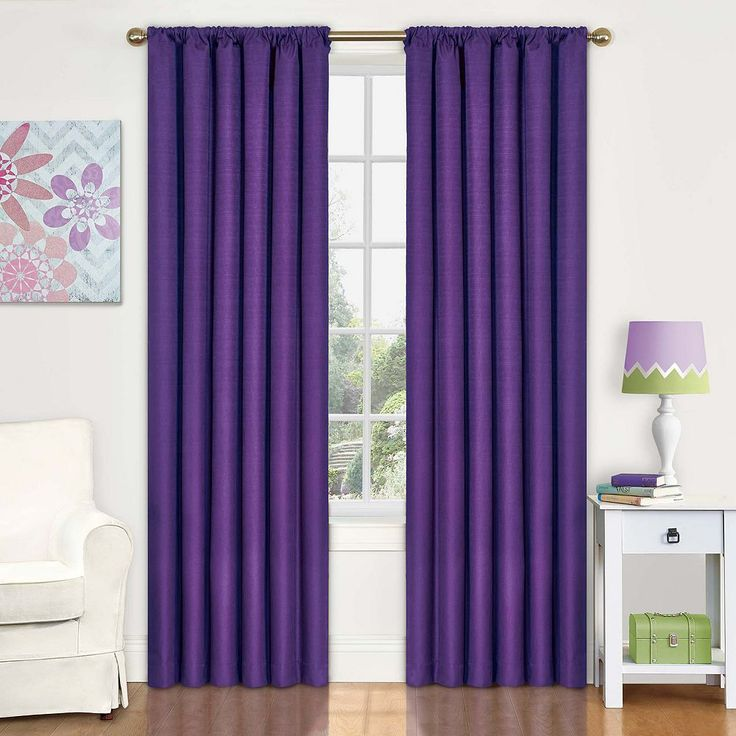 eclipse MyScene Kendall Kids Thermaback Blackout Curtain, Purple