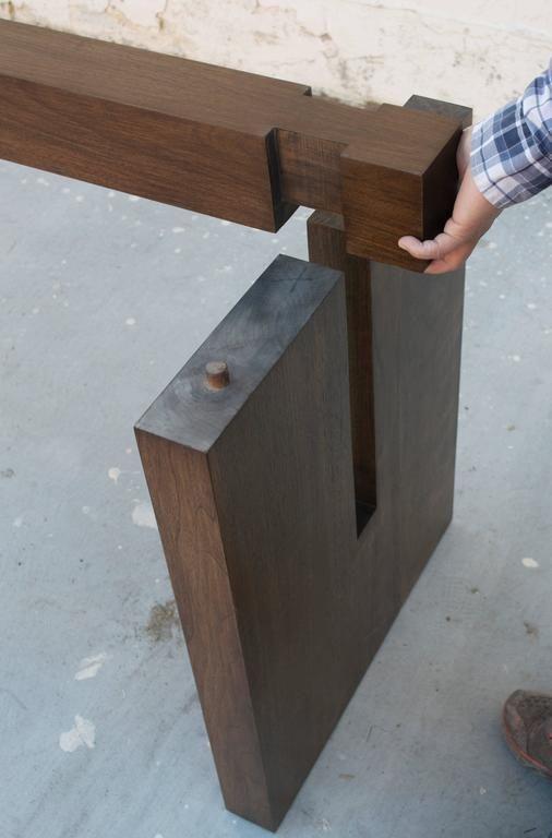 Black Walnut Trestle Table 8 More