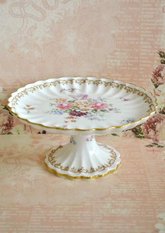 Gorgeous Vintage Crown Staffordshire Porcelain Cake Stand & 163 best Cake Plates \u0026 Stands images on Pinterest | Cake plates ...