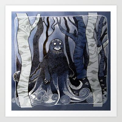 The Groke Art Print by telari - $20.00