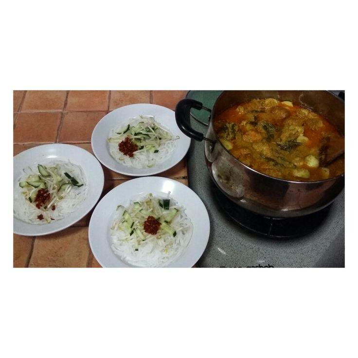 The authentic nonya laksa using coconut milk & mackerel