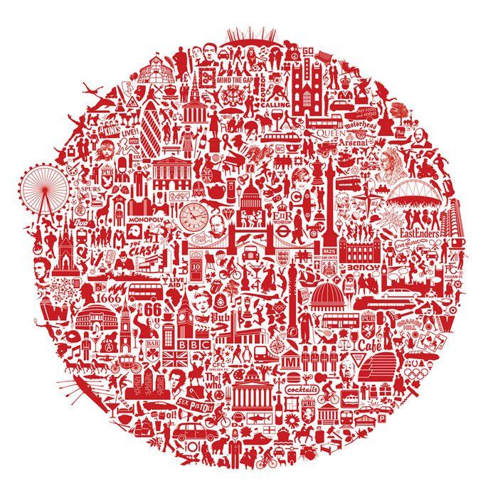 nickprints-Сити-карты и арт-Лондон-призвание