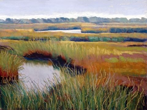 Cape Cod salt marsh painting - ria hills