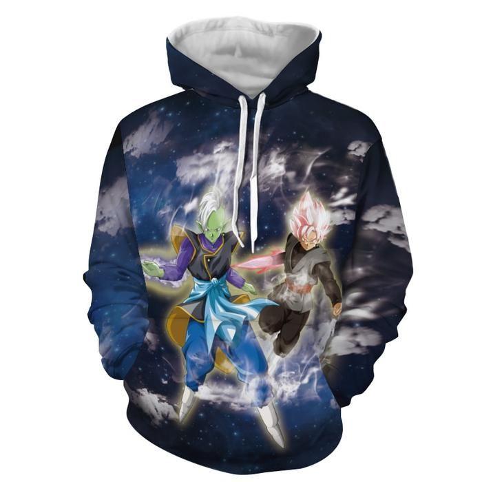 Zamasu And Goku Black Clouds Galaxy Full Print Hoodie Zamasu Goku Black Clouds Galaxy Fullprint Hoodie Hoodie Print Hoodies Unisex Hoodies