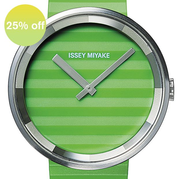 Please (green) watch by Issey Miyake. Available at Dezeen Watch Store: www.dezeenwatchstore.com