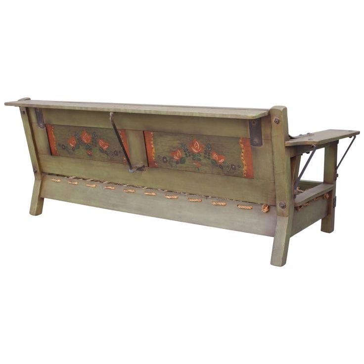 Classic Monterey Green Rope Bottom Sofa Frame