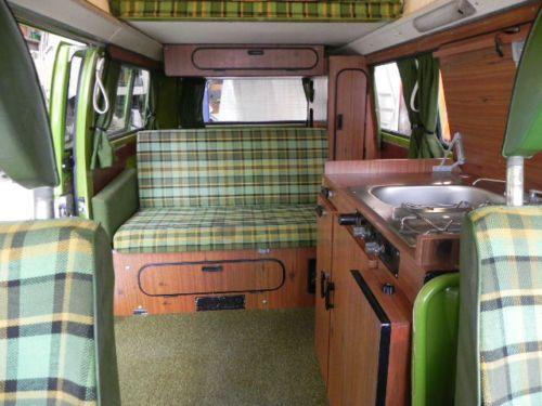 Volkswagen vw type 2 camper westfalia berlin deluxe sold for Interieur combi vw
