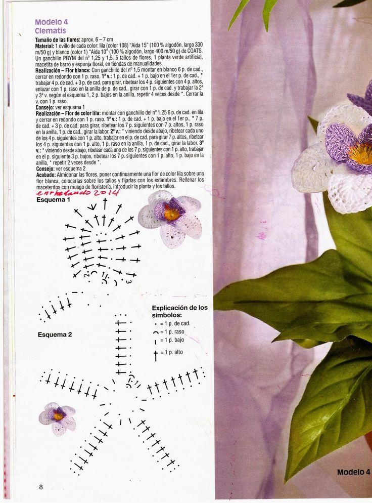 Mejores 86 imágenes de Flores en Pinterest | Flores de ganchillo ...