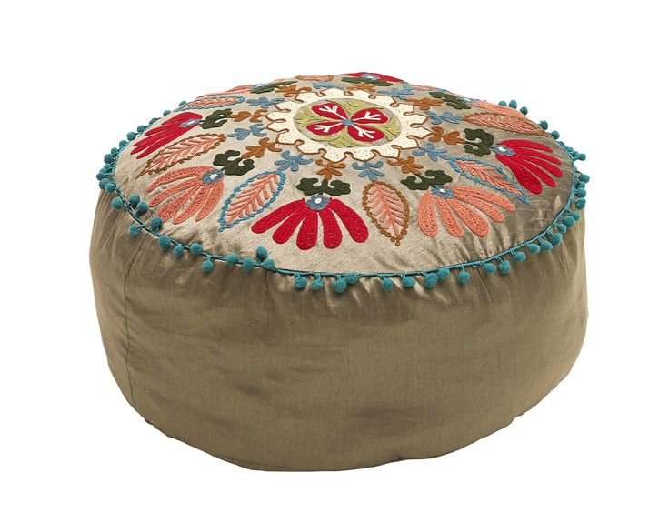 Floral seating cushion