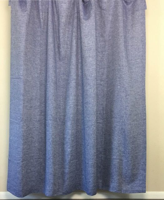 Chambray Denim Linen Shower Curtain Bring The Rich Distinctive Texture Of Pure Into Your Bathroom With This
