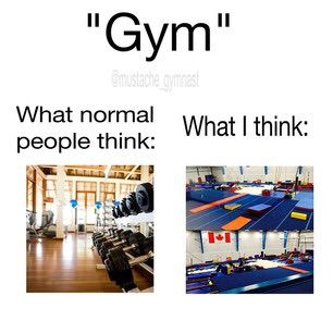 gymnast vs normal people when we hear the word gym
