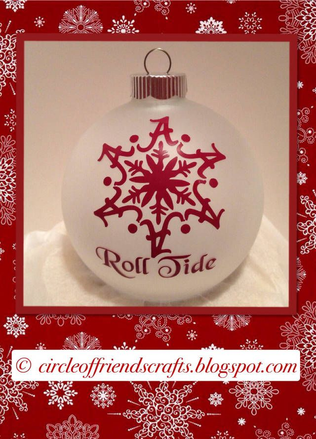 Alabama Snowflake Ornament @Candace Harris  thought of you