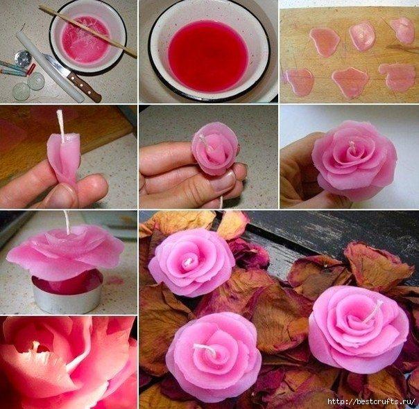 Sviečky v podobe ruží 2