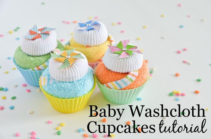Project Nursery - Baby Washcloth Cupcakes Tutorial - Project Nursery
