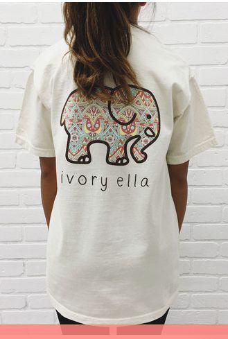 Ivory Ella Mosiac Short Sleeve Tee-34