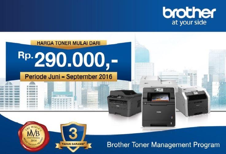 #Brother and #Sister jangan lupa untuk ikut Toner Management Program karena hanya tinggal sebentar lagi sampai akhir September ini. Ayo buruan daftarkan perusahaan anda!