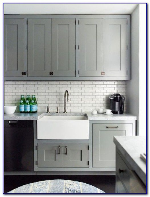 subway tile kitchen backsplash grey grout tiles home from ...