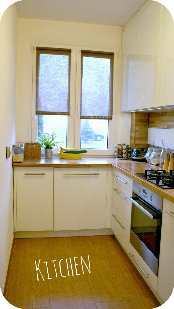 Wnętrza, Moje M4 - kuchnia robiona na wymiar, blaty są z płyty mdf imitującej drewno