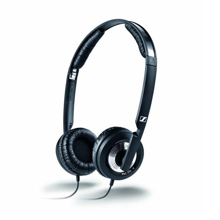 Sennheiser PXC 250-II Foldable Closed-Back Stereo Mini On-Ear Headphones with Noiseguard Active Noise Cancellation