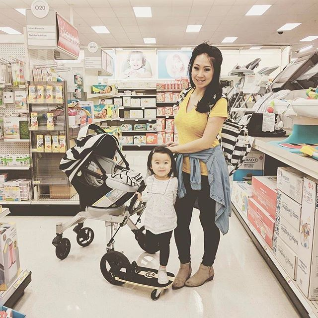 We love seeing our giveaway winners wearing their bags out and about! :@mrskimm   This moment needed a photo, so I asked strangers! Rocking my matching diaper bag and baby cover I received from IG contest giveaways!   #jujube #bff #thefirstlady #backpackdiaperbag #fashionable #functional #machinewashable
