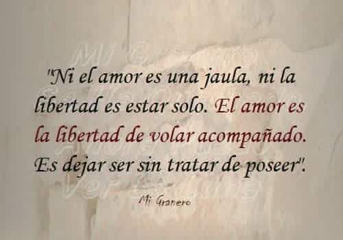El amor es libertad