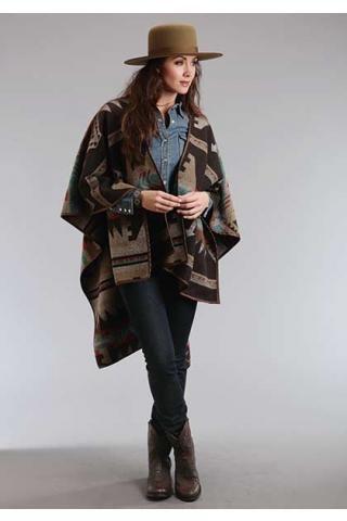 Navajo Serape Wrap Cardigan Stetson Ladies Collection- Fal Outerwear Urban Western Wear