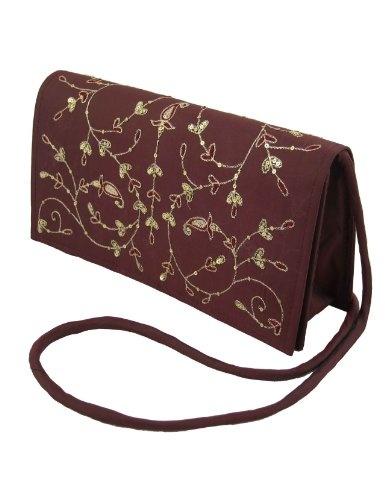 Las mujeres bolsos y carteras de noche de seda bordado: Amazon.es: Juguetes y juegos