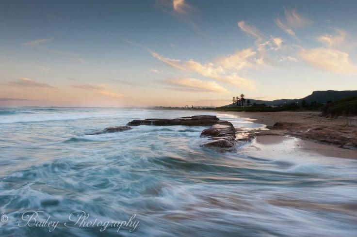 Bulli Beach NSW just before the super moon rising