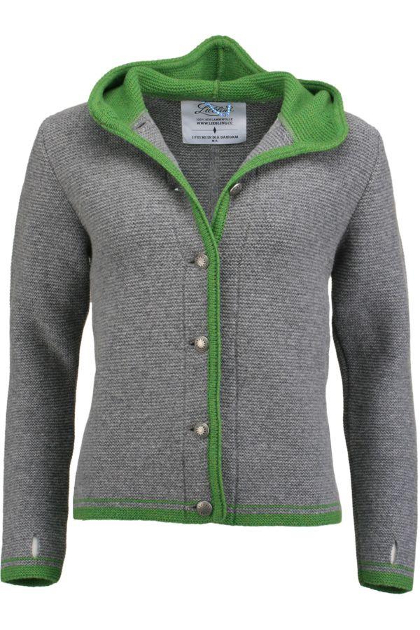 Liebling Trachtenjanker grau/grün 'Katharina' - Jacken und Janker Damen - Trachten Werner-Leichtl OHG