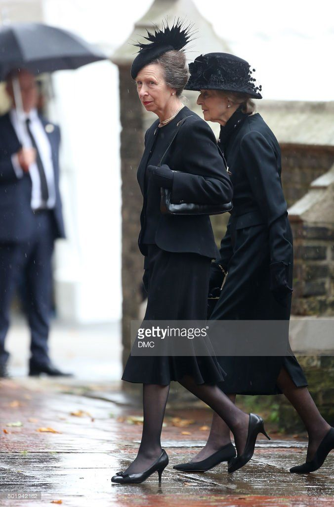 rt @RoyaleVision #royal June 27, 2017 - Princess Royal and Princess Alexandra attend the funeral of The Countess Mountbatten of Burma at St Paul's Churchi