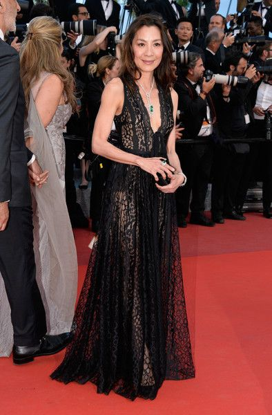 """Michelle Yeoh Photos - Actress Michelle Yeoh attends the """"Julieta"""" premiere during the 69th annual Cannes Film Festival at the Palais des Festivals on May 17, 2016 in Cannes, France. - 'Julieta' - Red Carpet Arrivals - The 69th Annual Cannes Film Festival"""