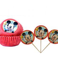 Doğum günü parti süslemeleri için 24 adet Mickey Mouse Temalı Cupcake Set malzemelerini online olarak uygun fiyatlar ile satın…