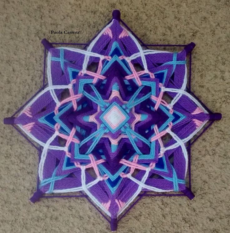 Mandala uno de los más lindos que he visto ❤️ 8 point mandala ojo de dios