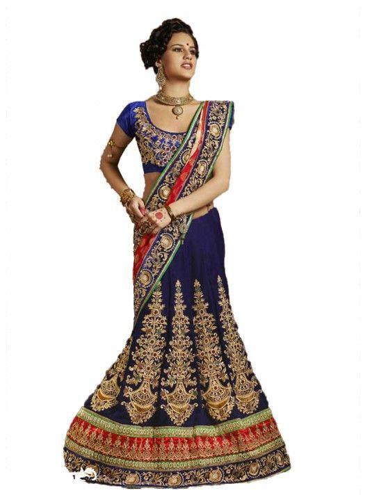 Blouse Fabric Velvet Colour Blue Fabric Satin, Velvet, Net Occasion Festival, Party, Wedding Shipping time 7 days Work Embroidered