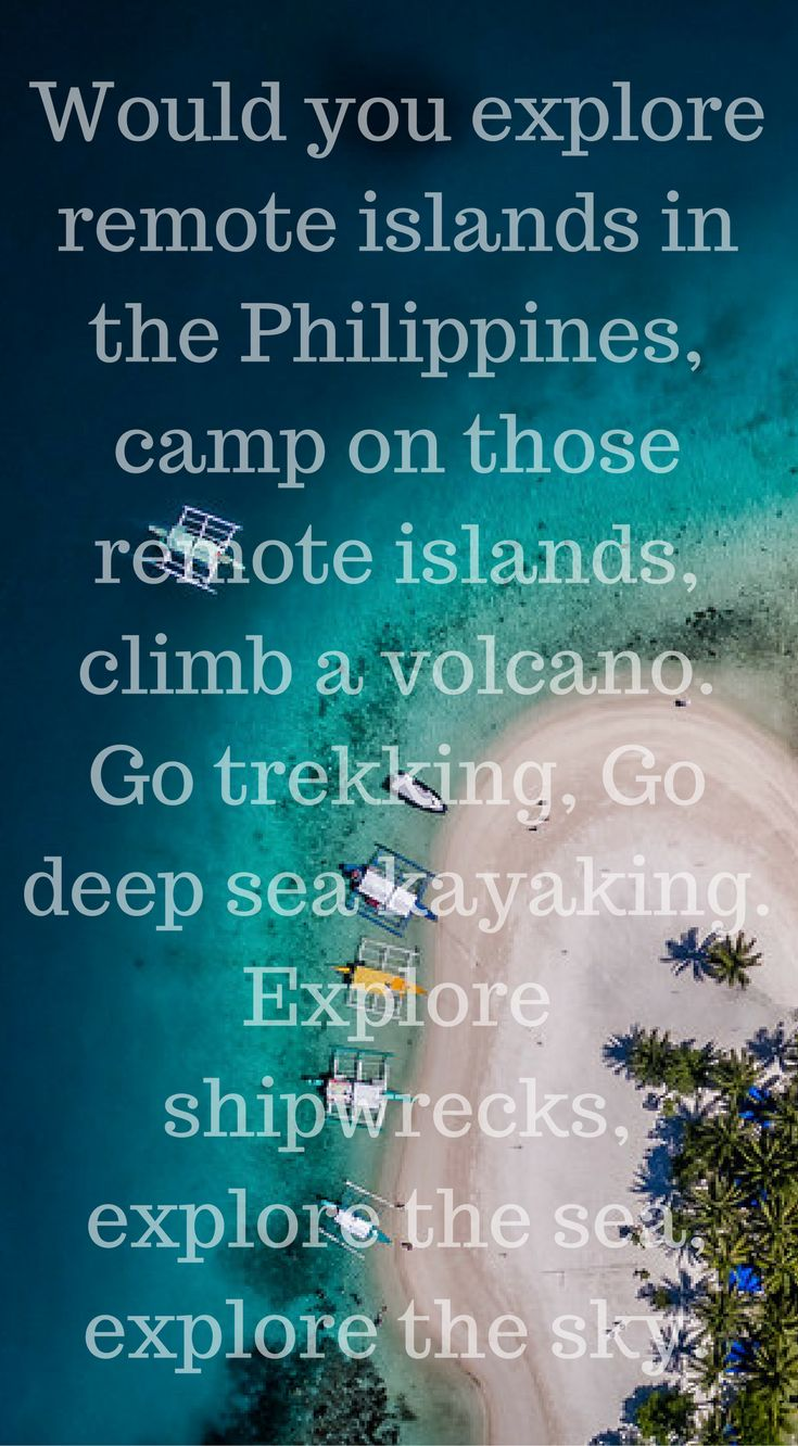 Adventure in Paradise this is the Philippines Travel Video By the Divergent Travelers Adventure Travel Blog. Would you explore remote islands in the Philippines, camp on those remote islands, climb a volcano. Go trekking, Go deep sea kayaking. Explore shi